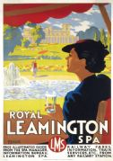 Royal Leamington Spa, Warwickshire. Vintage LMS Travel poster by Ronald Lampitt. 1937